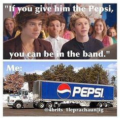 one direction. Brb going to go drive the Pepsi to one direction! One Direction Photos, One Direction Humor, One Direction Imagines, I Love One Direction, Direction Quotes, 1d Imagines, Thing 1, First Love, My Love