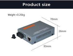 Fiber Optic Media Converter 1000Mbps RJ45 Single mode 2 SC 25KM--1 Unit Big one