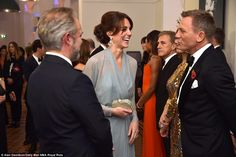He's a man of many talents: Craig had The Duchess in a fit of laughter as they chatted at the meet and greet