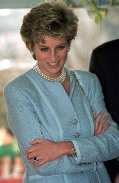 Princess Diana at the Umeda Akebono School in Tokyo, Japan, February 8, 1995.:
