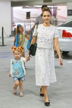 Jessica Alba and Cash Warren take their daughters Honor and Haven to an Art Museum on May 18, 2014