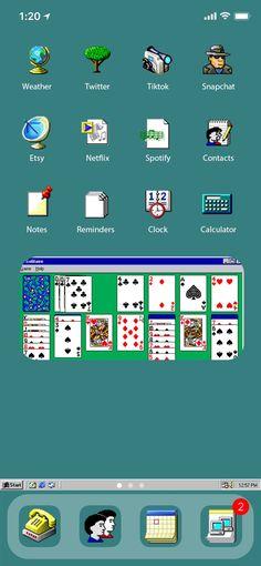 28 iPhone iOS 14 App Icons | iOS14 Widget Photos | Windows95 iOS 14 Icons | iOS 14 Widget Covers | iOS 14 Icon Pack I Aesthetic App icons Iphone Home Screen Layout, Iphone Layout, Windows 95, Shortcut Icon, Ios Update, Iphone App Design, Computer Icon, New Ios, Ios App Icon