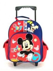 f6e697e04f8 Disney Mickey Mouse Backpack School Children Kids Rolling Back To School  Backpacks