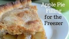 how to prepare apple pie filling for freezing