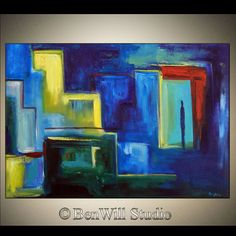 ORIGINAL Abstract MODERN Art Oil Painting Large by benwill on Etsy, $340.00