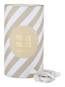 SELFRIDGES SELECTION British Toffee Twists Paper Packaging, Print Packaging, Packaging Design, Toffee, Drink Sleeves, The Selection, Artisan, Branding, Candy