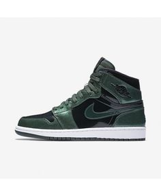 separation shoes aabc1 323e8 Air Jordan I Retro High Grove Green White Black 332550-300 Nike Air Jordans,