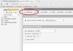 Select Database Option