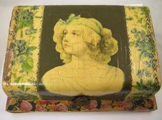 Celluloid and Decoupage Vanity Box.