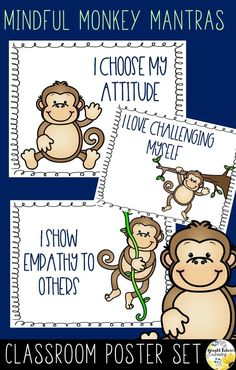 These classroom posters are a great way to encourage students to use positive affirmations when feeling frustrated or upset. Surround students with mindfulness mantra posters in your classroom or in your school counseling office. School Counselor Organization, School Counseling Office, Elementary School Counselor, Elementary Schools, Classroom Posters, Classroom Decor, Future School, Mindfulness For Kids, Feeling Frustrated