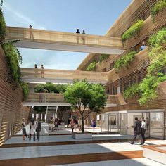 Saint Etienne Offices (urban courtyards)
