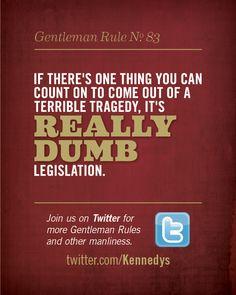 Kennedy's Gentleman Rule No. 83 #BroPin