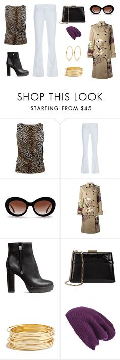 """""""Early April day"""" by edith-a-giles ❤ liked on Polyvore featuring Giambattista Valli, J Brand, Valentino, H&M, Lanvin, Argento Vivo and Halogen"""