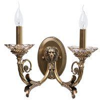 Applique tête de lion Classic Laiton vieilli 2x60W Boutica-Design