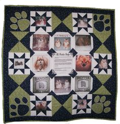 memory quilts | ... Crafty: Entering Pets on Quilts contest - Pomeranian Memory Quilt