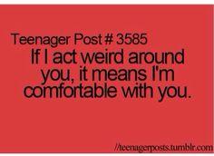 Yep, I'm weird.