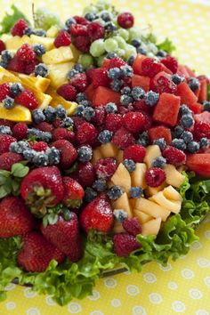 Fruit Tray with Dip