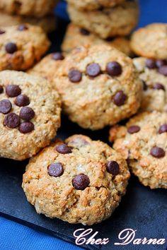 cookies légers à la compote de pommes, aux flocons d'avoine كوكيز بالخرطال و كومبوت التفاح