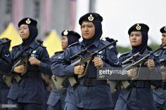 PUTRAJAYA, MALAYSIA: Women from the Royal Malaysian Air Force... #steyr: PUTRAJAYA, MALAYSIA: Women from the Royal Malaysian Air… #steyr