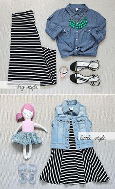 Big / Little Style: black & white stripes by justbellablog