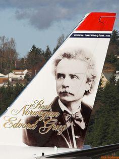 "Norwegian Air Shuttle LN-NOB ""Edvard Grieg"" B737-800 @ BFI"