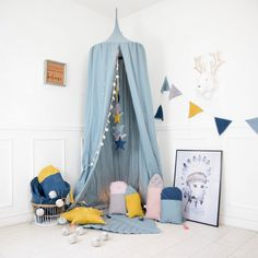 Play Canopy Baldachin Nursery Canopy Hanging Play Tent Crib canopy Childrens Can. Childrens Bed Canopy, Kids Bed Canopy, Childrens Room Decor, Teepee Tent, Canopy Tent, Bed Canopies, Garden Canopy, Baby Boy Rooms, Canopy Beds