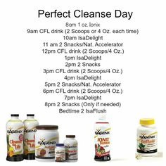 http://amberlyc.isagenix.com/ Isagenix cleanse schedule - It is intimidating but it can be done!! and your body will thank you!! :)