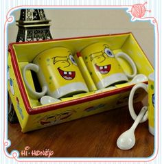 SpongeBob SquarePants Ceramics Cup Sets Cute Couples Cups AND Mugs New 2013 Birthday Wedding Gifts Lovers Free  http://www.aliexpress.com/store/product/SpongeBob-SquarePants-Ceramics-Cup-Sets-Cute-Couples-Cups-AND-Mugs-New-2013-Birthday-Wedding-Gifts-Lovers/1053050_1556731146.html