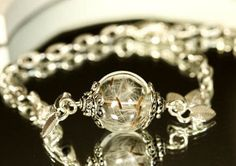 Real Dandelion Bracelet silver wish bracelet Jewelry by RafFinesse Wish Bracelets, Silver Bracelets, Jewelry Bracelets, Glass Globe, Dandelion, Birthday Gifts, Diamond Earrings, Wedding Rings, Engagement Rings