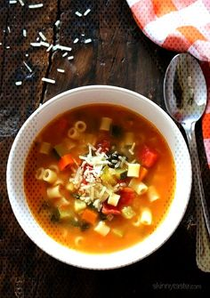 #minestrone #vegetables #tomatoes #classic #italian #hearty #beans #white #pasta #soup #with #best #this #the #far This is... Italian Soup Recipes, Skinnytaste, White Beans, Cheeseburger Chowder, Chili, Roast, Tomatoes, Vegetables, White Pasta