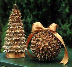 zielnik hani: ozdoby na święta z bukowych szyszek