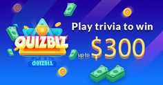 Play trivia that pays. Trivia Questions, Trivia Games, Win Money, Become A Millionaire, Smart People, How To Get Money, Face Care, Games To Play, Projects To Try
