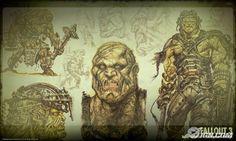 Fallout 3 concept art 07 - Supermutants