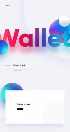 Website for Crypto Wallet on Behance App Ui Design, Web Design Trends, Interface Design, User Interface, Web Layout, Layout Design, Rollup Design, Desgin, Identity