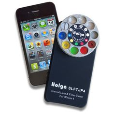 The Holga iPhone Lens Filter is an iPhone 4/4S case featuring a rotating wheel containing camera lens filters.