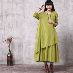 Loose Fitting Long Maxi Dress Gown Women Dress by deboy2000