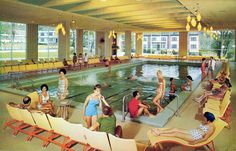 The Pines Hotel - South Fallsburg, New York Open all year. A fabulous resort hotel - elevator service - regulation 9 hole Sportsman gold cou. Catskill Hotel, Catskill Resorts, Hotels And Resorts, Best Hotels, Catskill Mountains, Vintage Hotels, California History, Hotel Motel, Googie