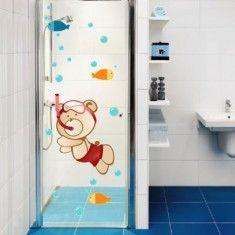 Adesivo no banheiro