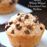 Salted Whole Wheat Chocolate Chip Muffins