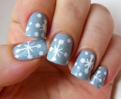 Top 10 DIY Winter Nail Art - Top Inspired http://www.nailsinspiration.com/christmas-nails/christmas-and-winter-nails/