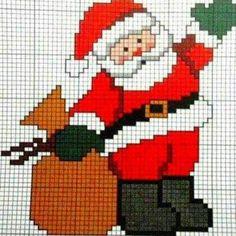 Borduurpatroon kerstman