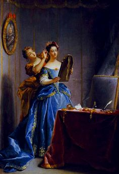 """""""Lady at Her Toilette"""" by Jean Raoux (1727)"""