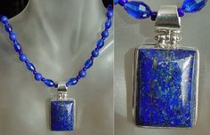 Blue Lapis Lazuli  Necklace c/w Lapis Lazuli Removable by camexinc, $40.00