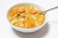 Creamy Butter Bean Soup #vegan (I'd make it with fresh carrots & potatoes)-