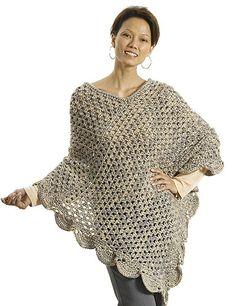 Perfect beginner crochet poncho: free pattern.