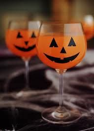 Cute Halloween prize! Dollar store wine glasses n decorate