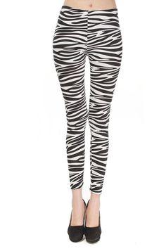 10,60 € - Leggings zèbre noir et blanc Sava - Leggings black and white 76dd3079c450