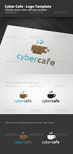 cyber cafe logo template by mangustas versatile vector cyber cafe logo template 100 editable
