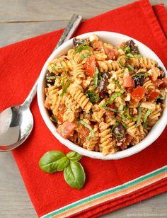Pasta Recipe : Tomato Feta Pasta Salad Pasta Recipe