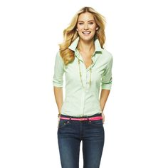 Love this Striped Cotton Perfect Shirt for $68 on C. Wonder